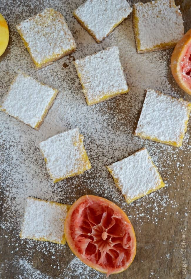Grapefruit Bars with Shortbread Crust