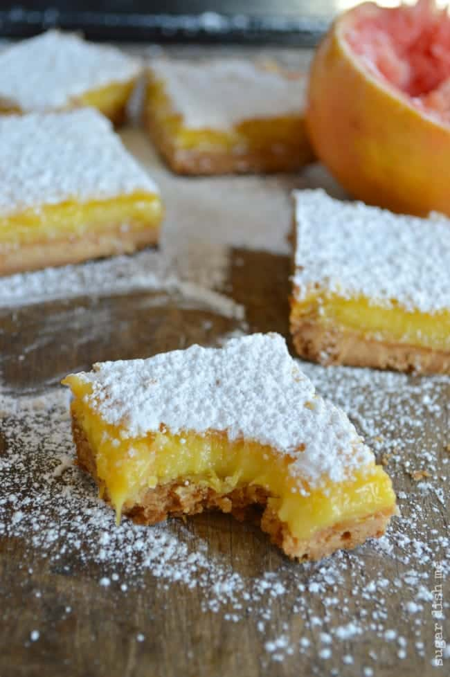 Citrus Bars with Grapefruit