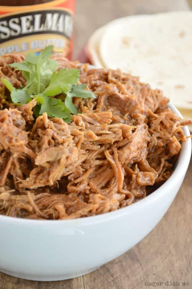 Slow Cooker Apple Butter Pulled Pork Recipe
