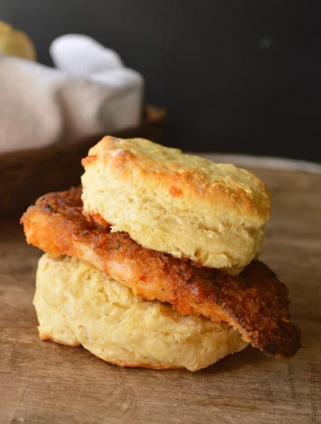 Crispy Cajun Chicken Biscuits