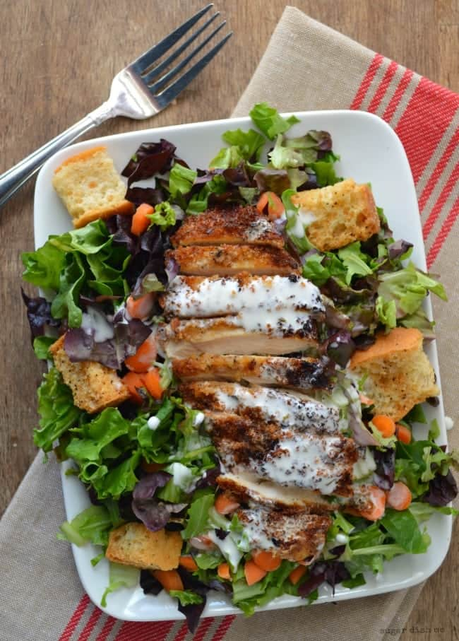 Crispy Cajun Chicken Salad