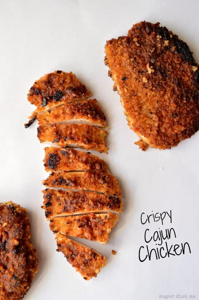 on a salad, awesome with a side of potatoes. Crispy Cajun Chicken ...