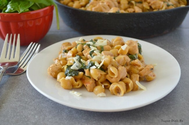 One Pot Chicken and Spinach Macaroni Recipe