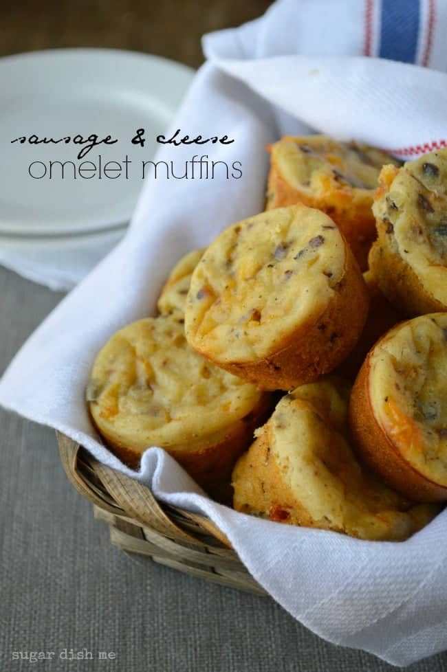 Sausage and Cheese Omelet Muffins