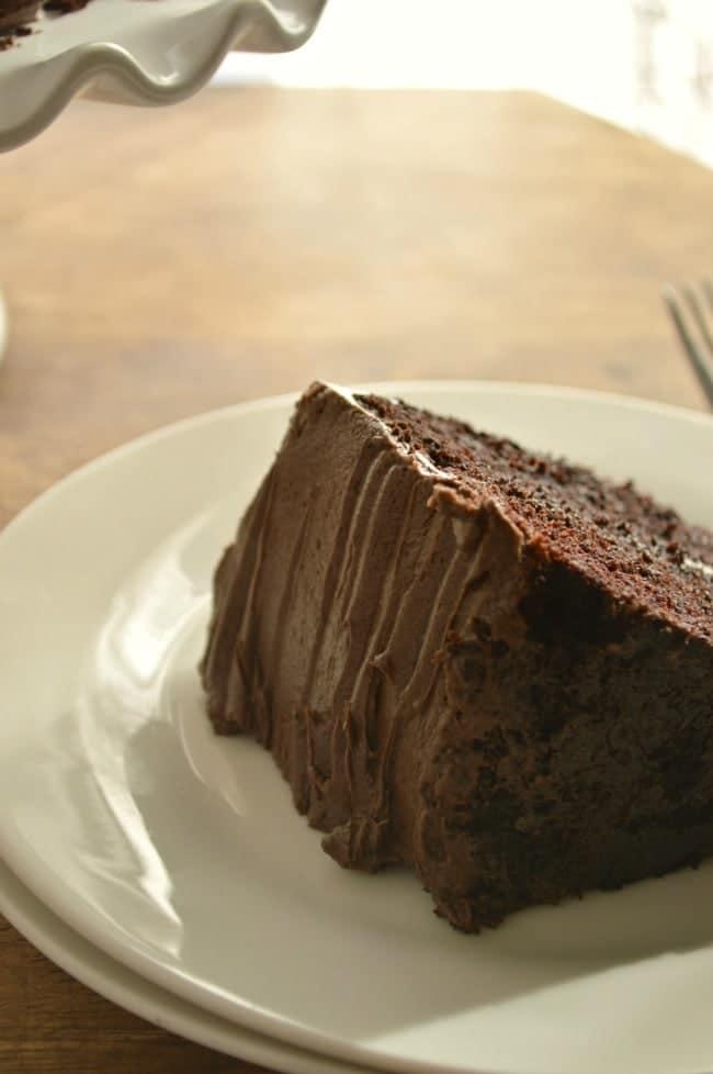 Sour Cream Fudge Cake