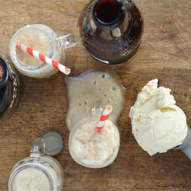 Bourbon Cream Ice Cream Floats