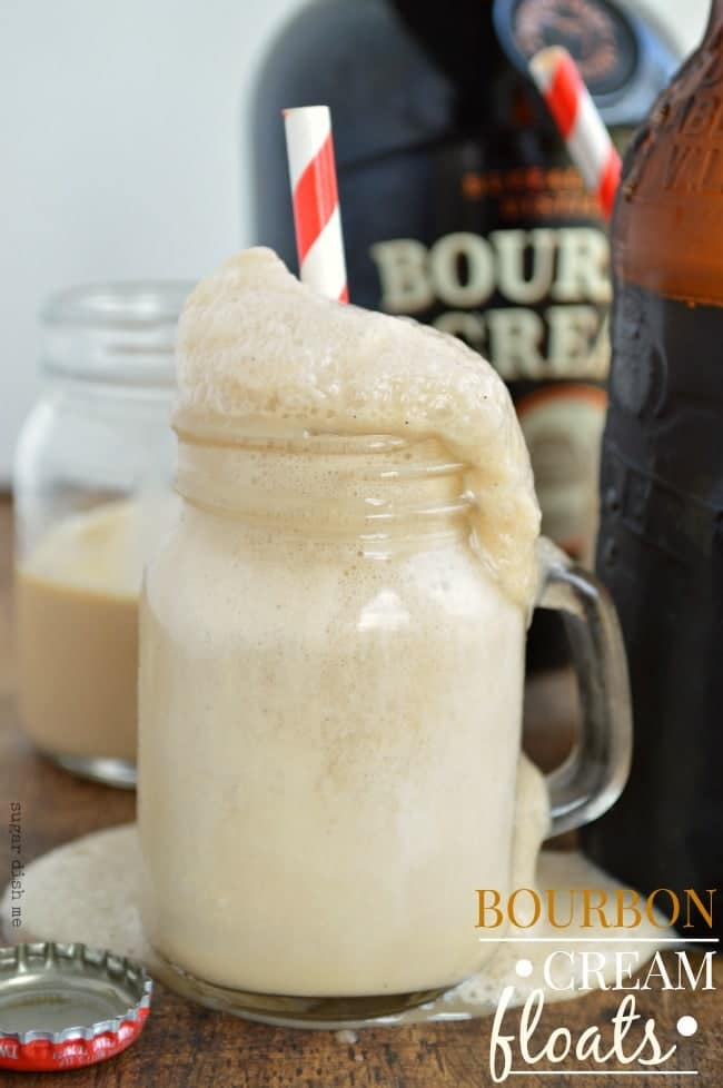 Bourbon Cream Floats