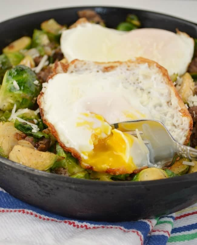 Brussels Sprout and Sausage Hash Recipe