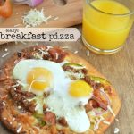 Easy Breakfast Pizza on Naan