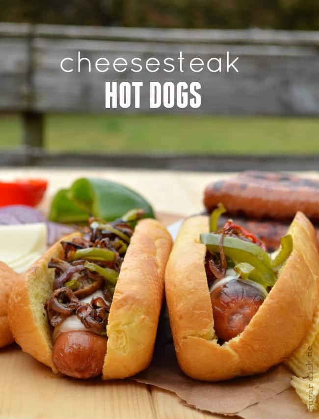 Cheesesteak Hot Dogs