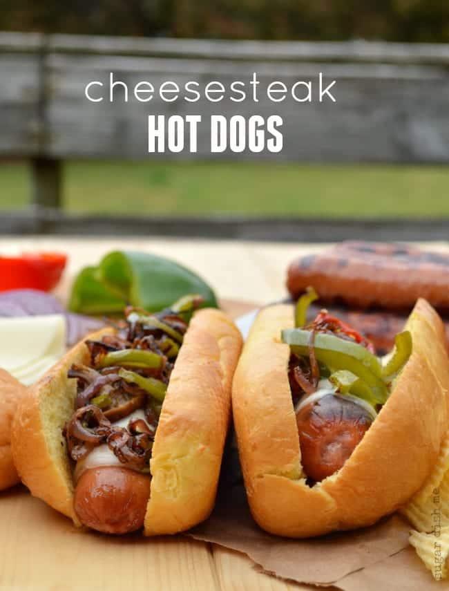 Cheesesteak Hot Dogs