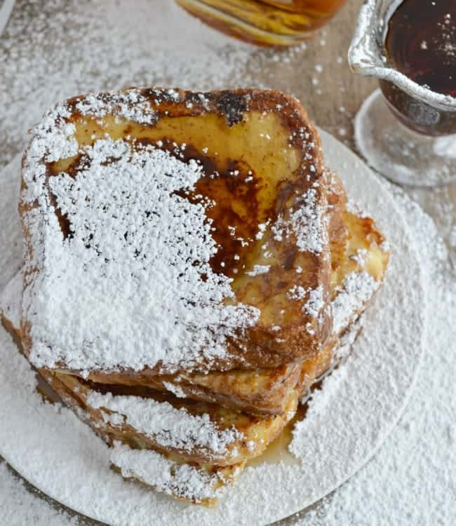 French Toast Recipe with warm Vanilla Bourbon Syrup
