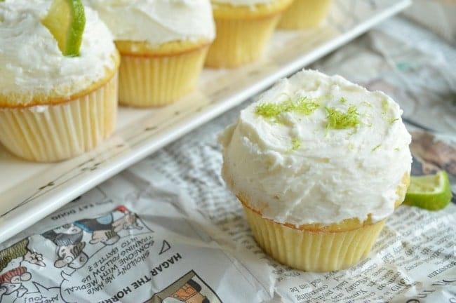 Cupcakes with margarita Buttercream