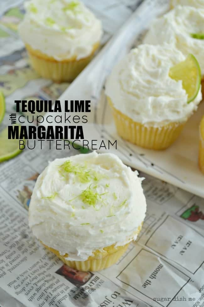 Tequila Lime Cupcakes with Margarita Buttercream