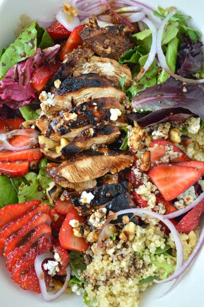 Strawberry Salad with Balsamic Vinaigrette Recipe
