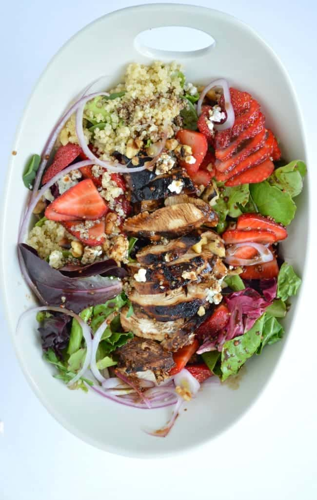 Balsamic Chicken and Strawberry Salad