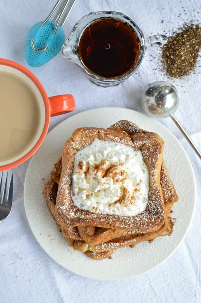 French Toast infused with Chai Tea