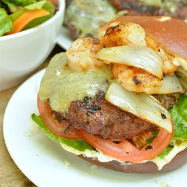 Honey Habanero Surf n Turf Burger Recipe