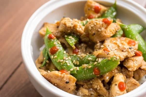 Chicken & Sugar Snap Pea Stir Fry via Or Whatever You Do