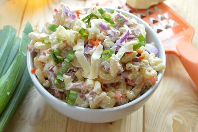 Ham and Cheddar Macaroni Salad