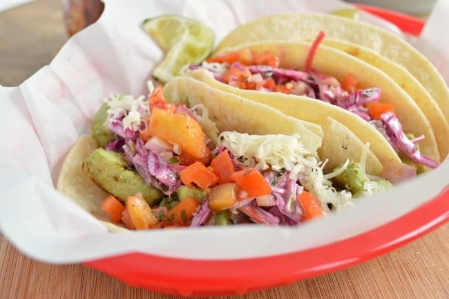 Chicken Tacos with Mexi Slaw