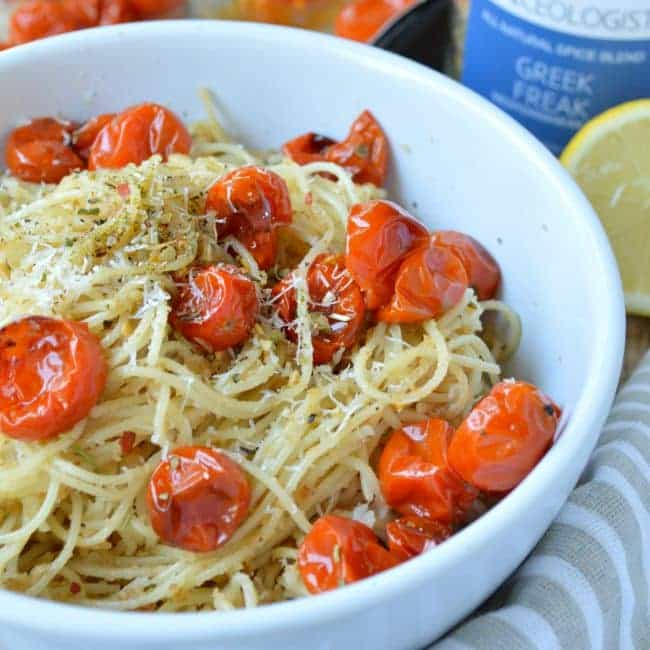 Lemon Herb Pasta with Roasted Tomatoes