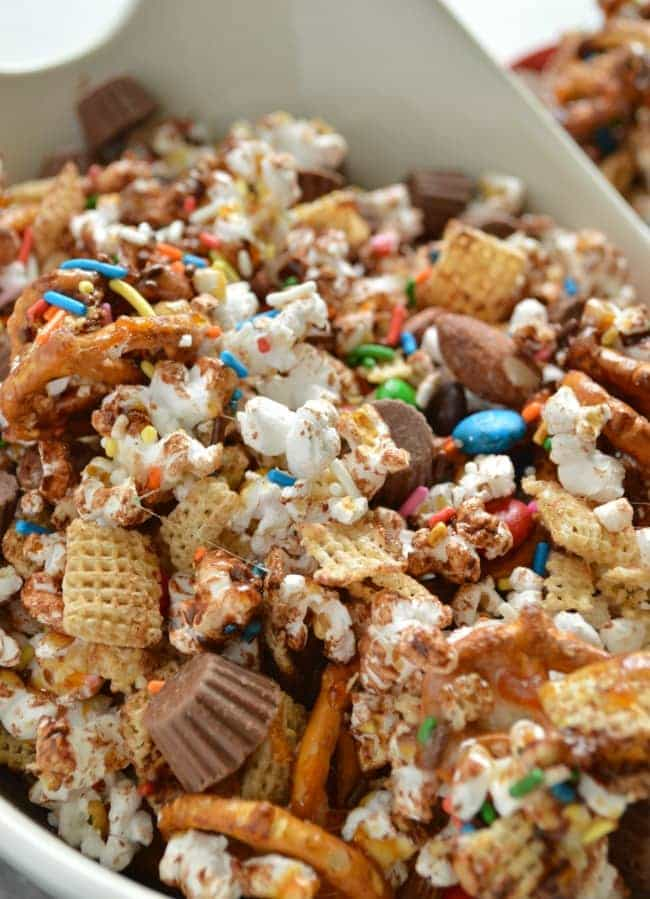 Loaded Candy Bar Popcorn Recipe