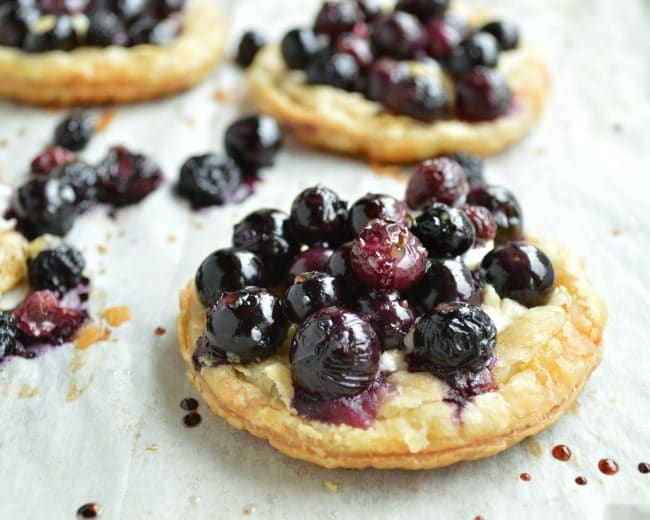 Roasted Berry tarts with Honey Goat Cheese