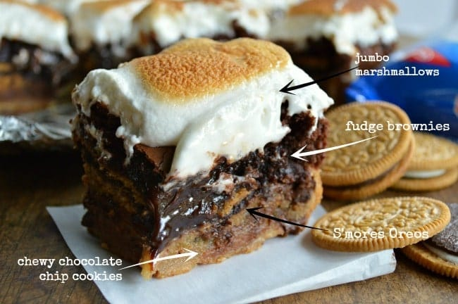 Slutty Brownie Recipe with S'mores Oreos