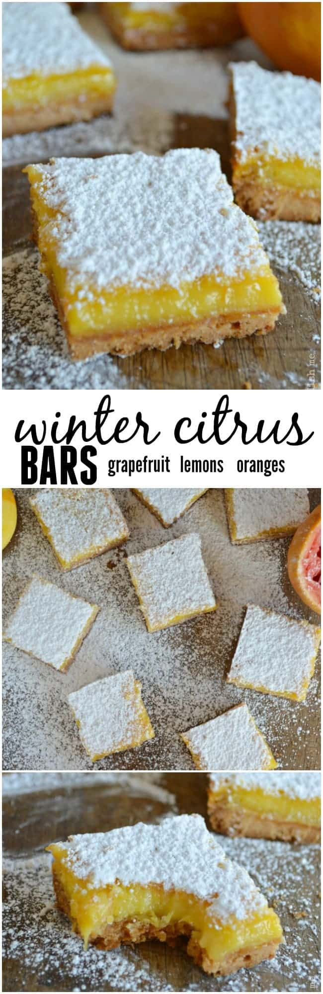 Winter citrus bars are loaded with my favorite winter fruits: grapefruit, blood oranges, and Meyer lemons. with a shortbread crust!