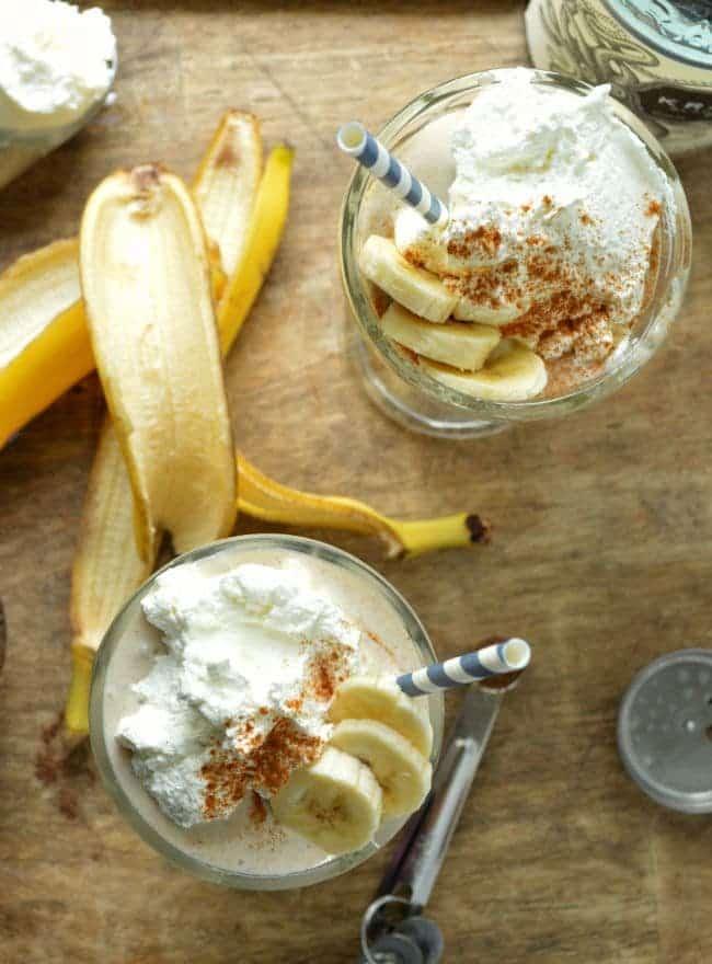 Banana Rum Milkshakes