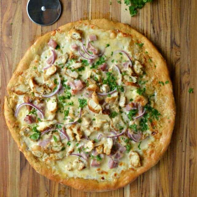 Chicken Cordon Blue Pizza