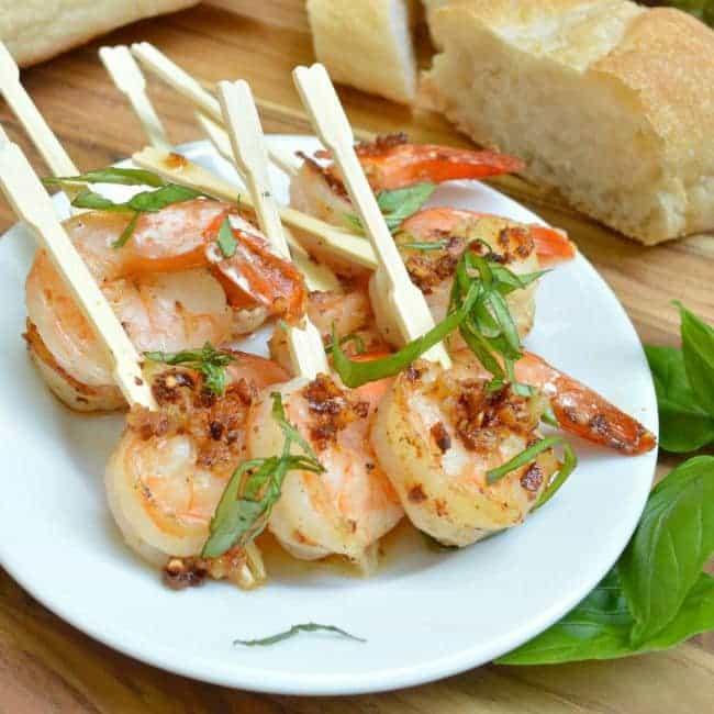 Garlic Shrimp Square