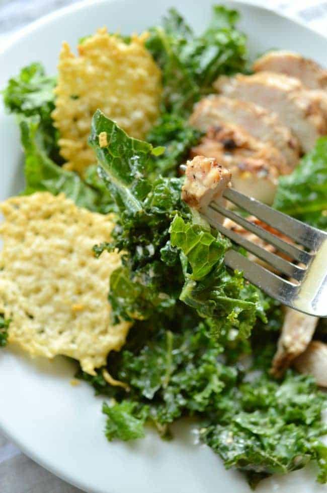 Copycat Panera Power Kale Caesar Salad - Sugar Dish Me