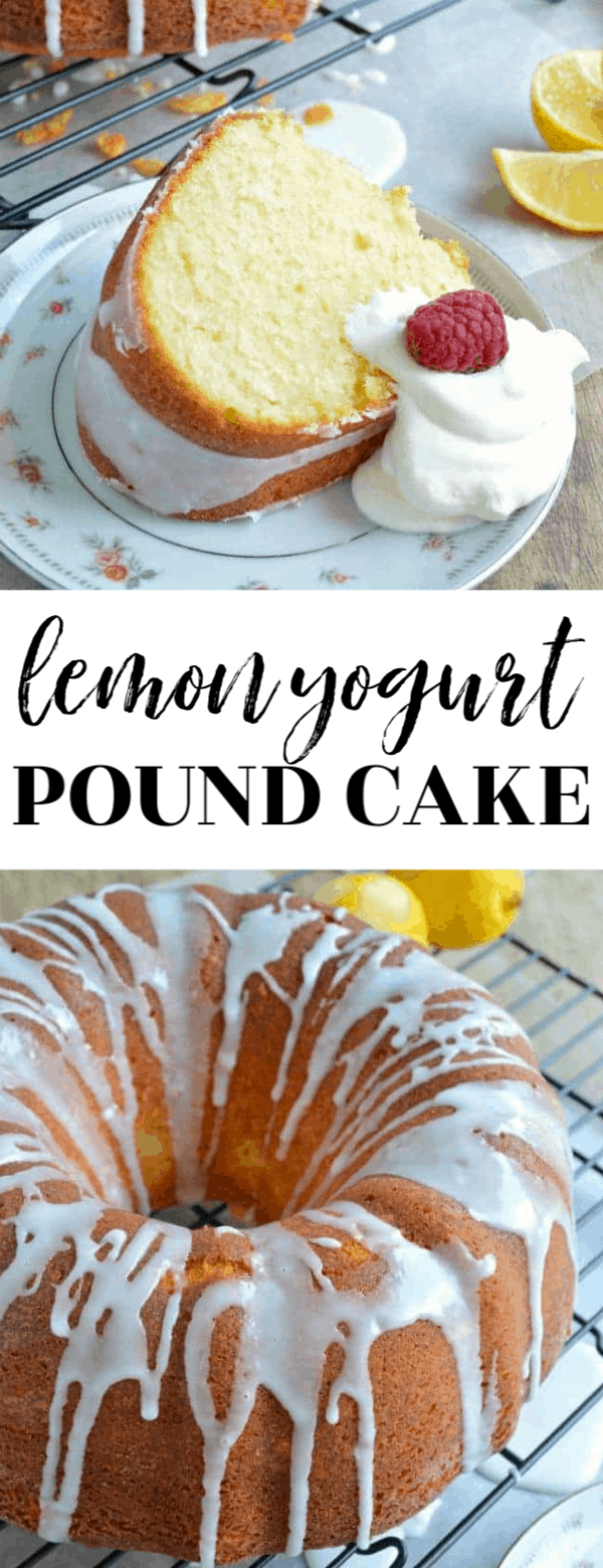 This Lemon Yogurt Pound Cake is a tender, buttery, loaded with lemon flavor, pound cake that will make your dessert guests swoon!