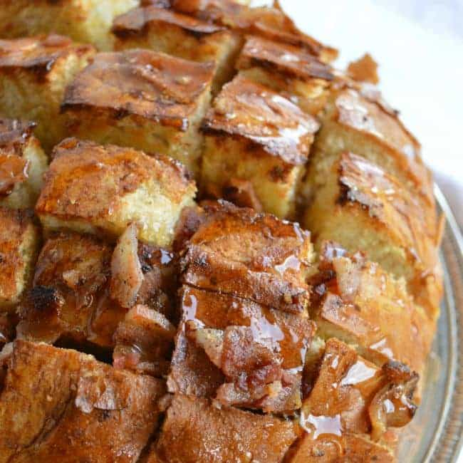 And add this Maple Bacon Pull Apart Bread to your guilty pleasures ...