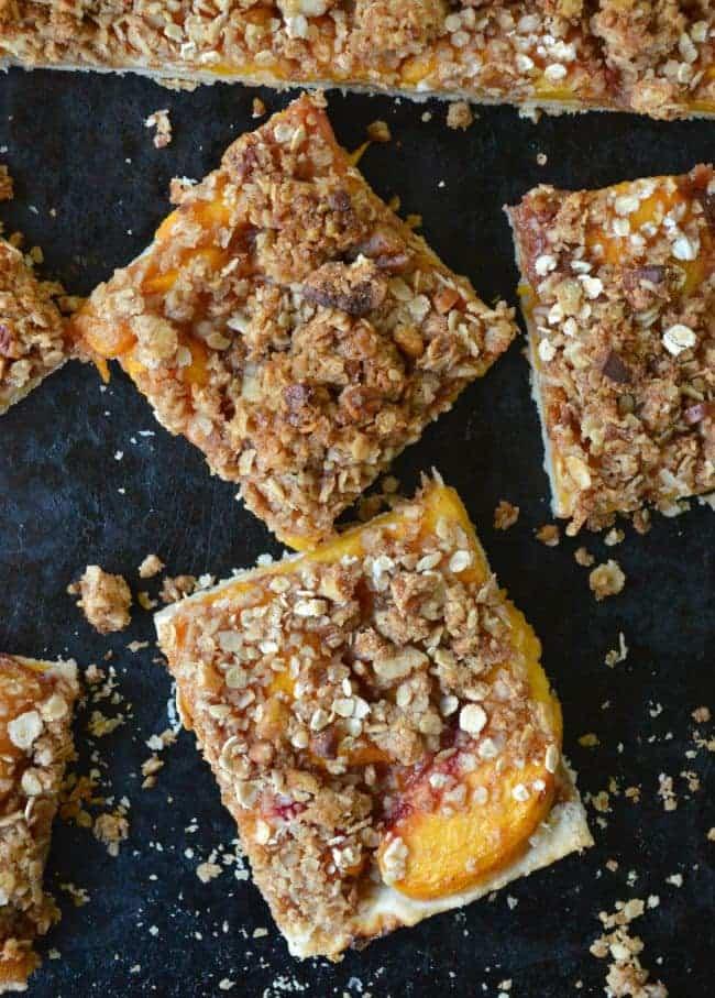 Peaches and Cream Pie Bar Recipe