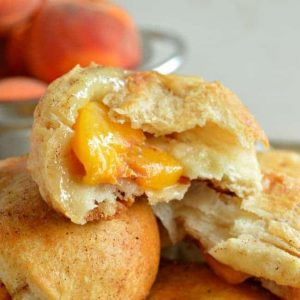 Peach Pie Stuffed Biscuit Recipe