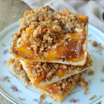 Peach Slab Pie Bars