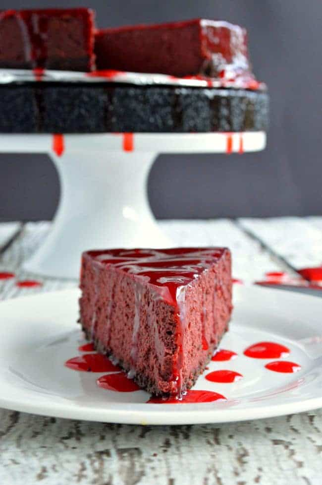 Bloody Halloween Cheesecake