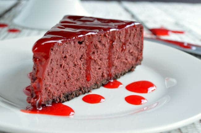 Red Velvet Halloween Cheesecake