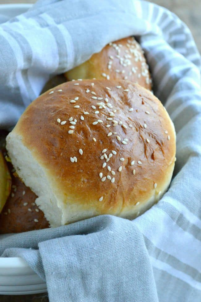 Homemade Brioche Burger Bun Recipe