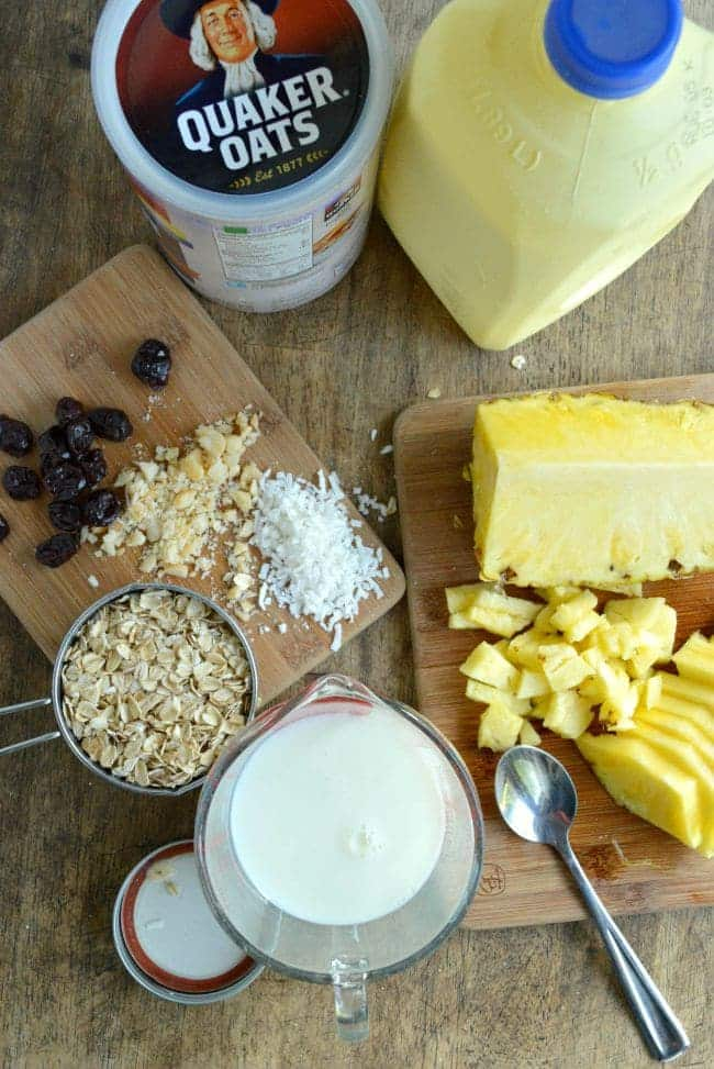 How to Make Hawaiian Overnight oats