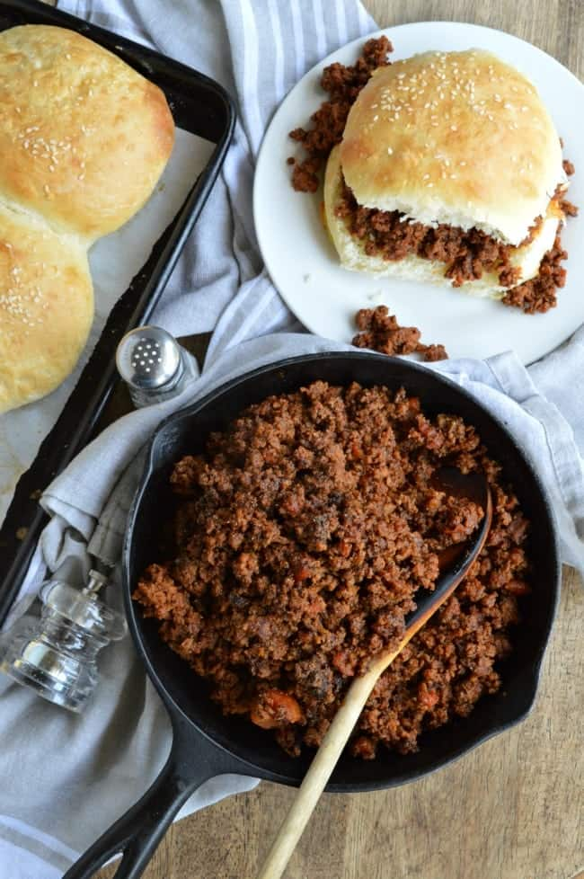 Easy Sloppy Joes on Homemade Brioche Buns