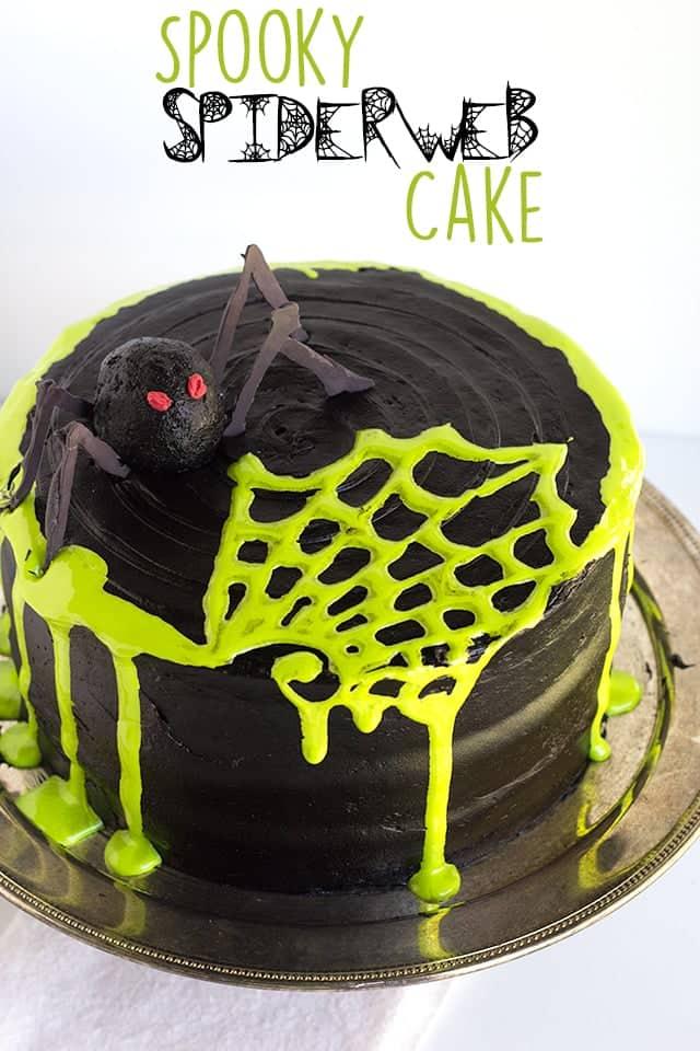 Spooky Spiderweb Layer Cake