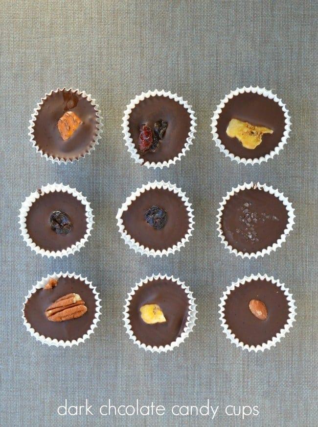 Dark Chocolate Candy Cups