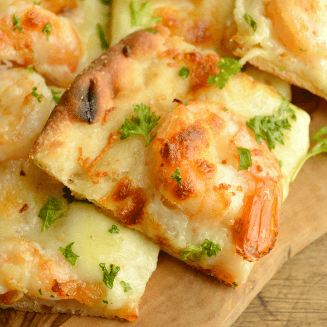 Garlic Shrimp Flatbread Recipe