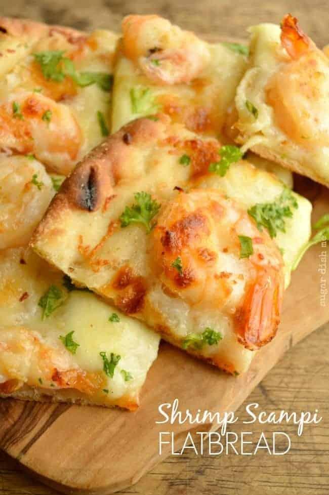 Shrimp Scampi Flatbread Recipe