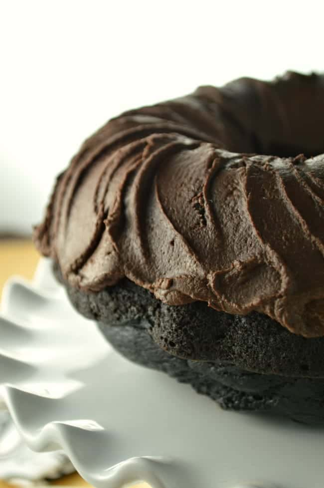 Chocolate Bundt Cake with Fudge Frosting