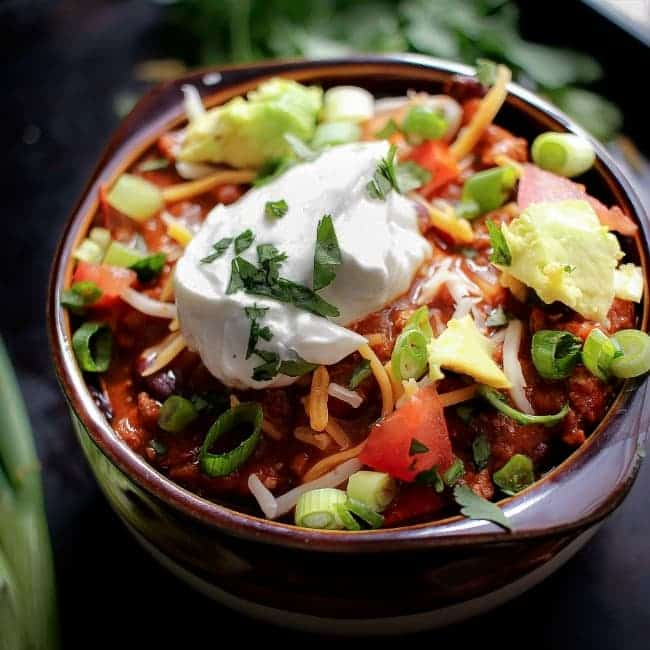 Heart Healthy Turkey Chili via The Chunky Chef